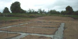 fondations de maisons