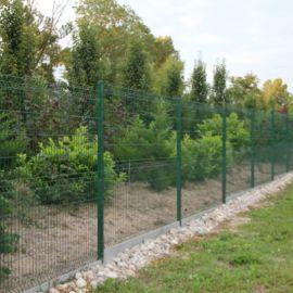 construction clôture grillage rigide